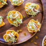 Brussels Sprout + Apple Slaw in Cheddar Cheese Cups