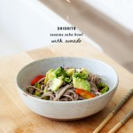 Soba noodles with shishitos & avocado