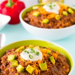 Vegan Crockpot Quinoa and Black Bean Chili