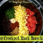 Easy Crockpot Black Bean Soup
