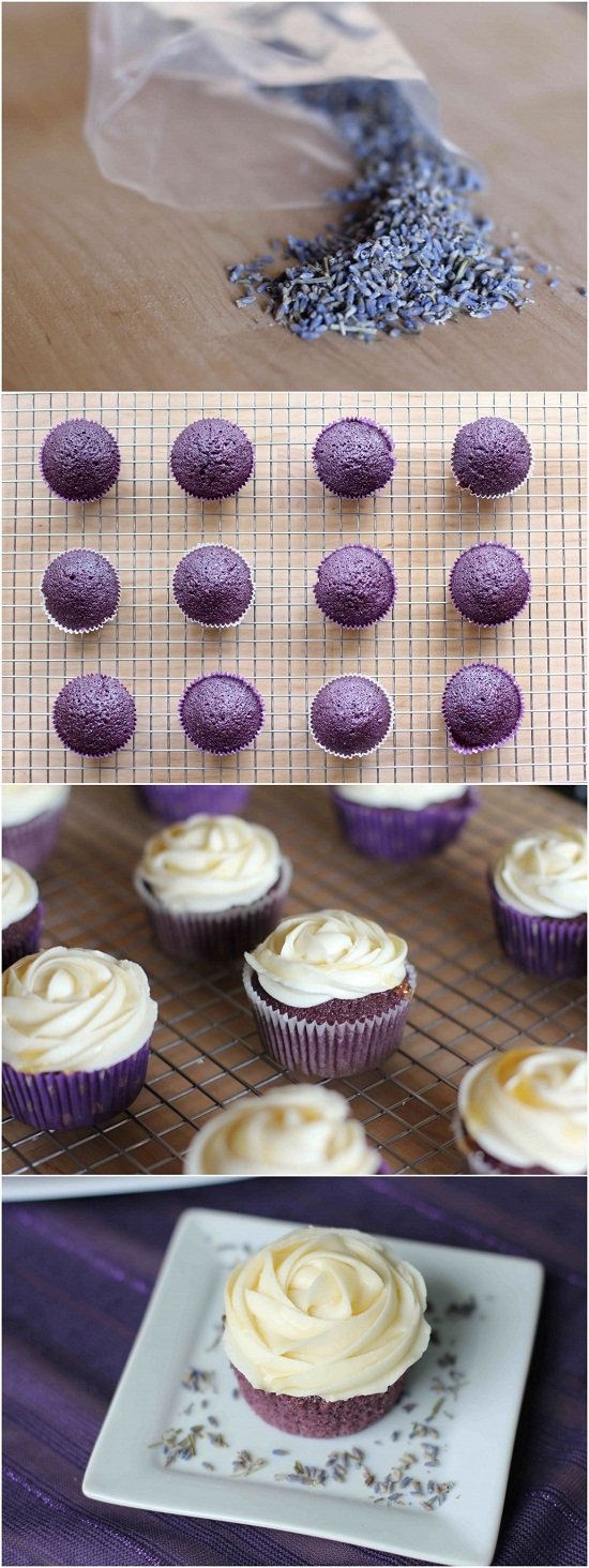 Lavender Cupcakes with Honey Frosting - Recipes for Diabetes-Weight ...