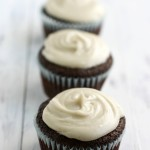Vegan Chocolate Cupcakes with Vanilla Bean Frosting.