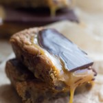 SALTED CARAMEL & DARK CHOCOLATE BLONDIES