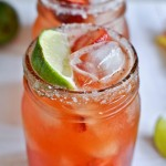 Fresh strawberry margaritas.
