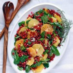 Have a Healthy Holiday: orange and pomegranate salad