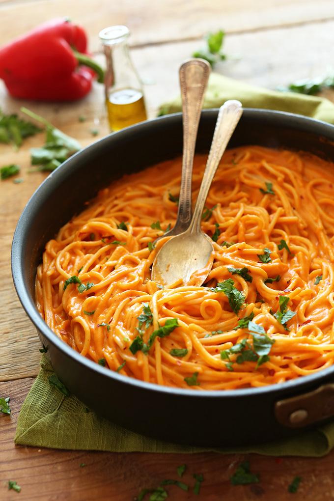 Vegan Roasted Red Pepper Pasta Gf Recipes For Diabetes