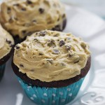 Chocolate Cupcakes with Cream Cheese Cookie Dough Frosting